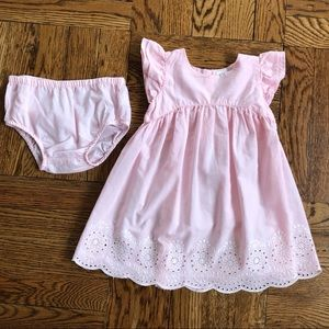 Pink Dress with Matching Bottoms